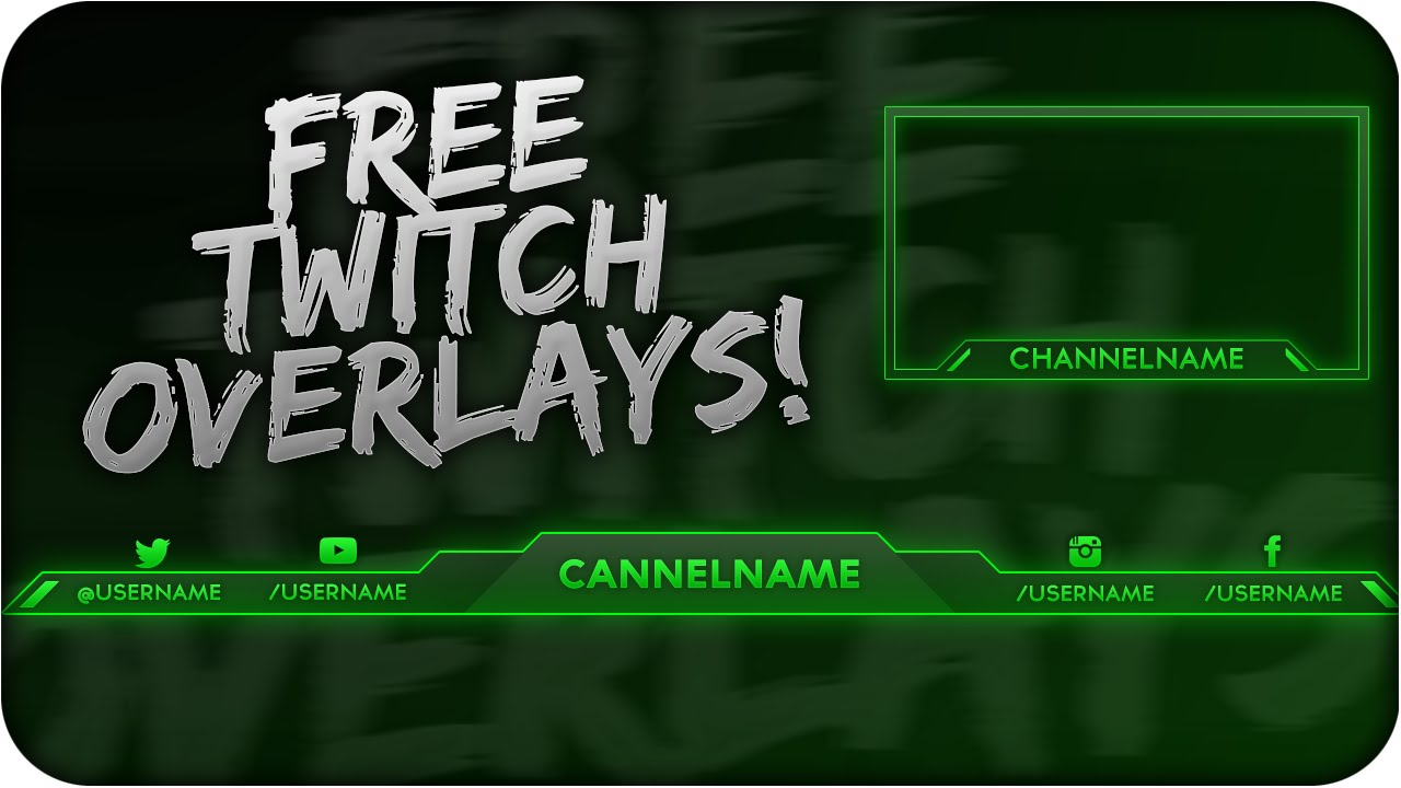 Free Twitch Overlay Template PSD + Direct Download Link - [NEW 2015!]