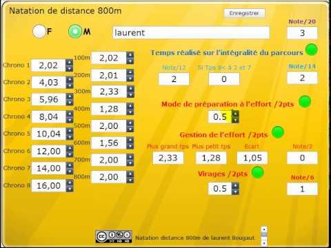 Préparer son évaluation au Bac natation 800m