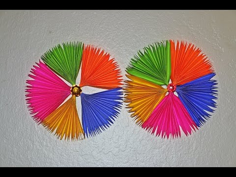 DIY Paper Craft: Paper Fan Backdrop Tutorial- Paper Rosettes - Pinwheel - Home/Party Decorations
