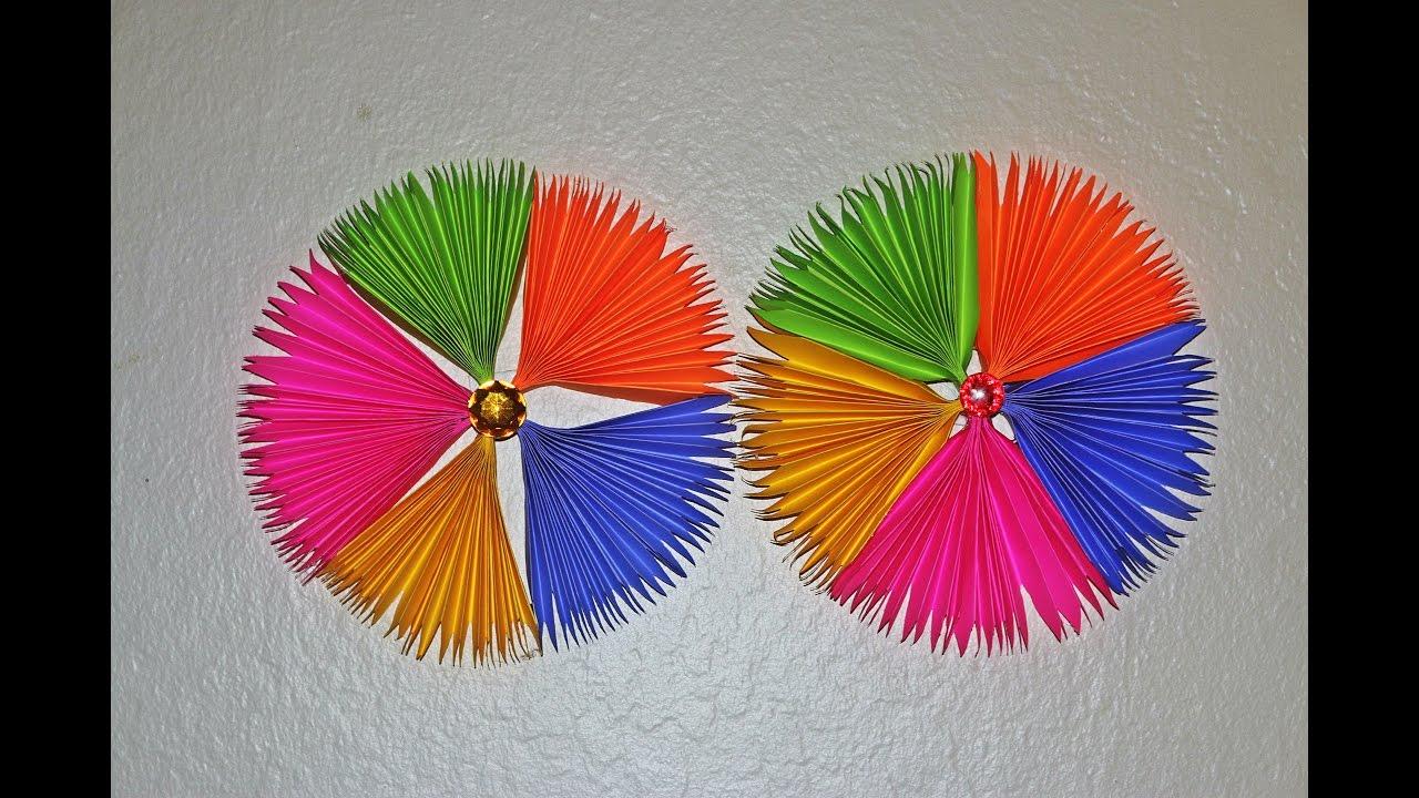diy paper craft paper fan backdrop tutorial paper. Black Bedroom Furniture Sets. Home Design Ideas
