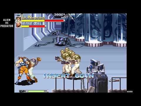 Alien vs. Predator / arcade opening intro attract mode auto demo / 1994