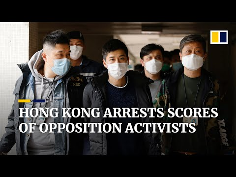 Mass arrests of Hong Kong opposition lawmakers, activists under national security law