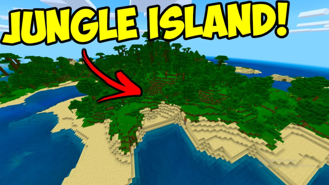 Jungle Island Seed For Minecraft Bedrock Edition Youtube