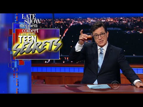 The Late Show's Teen Secrets: Snortable Chocolate Edition