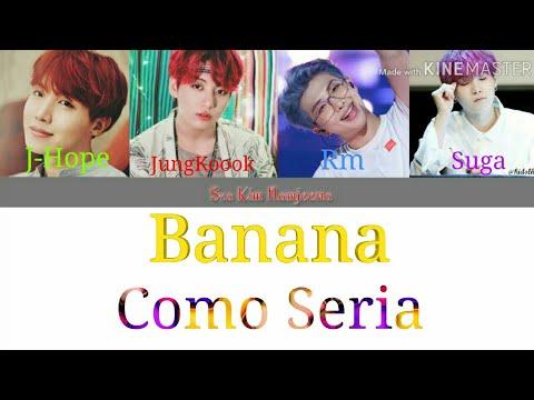 Rapline e Jungkook: Banana (Anitta e Becky G) Colored Lyrics (Como Seria)