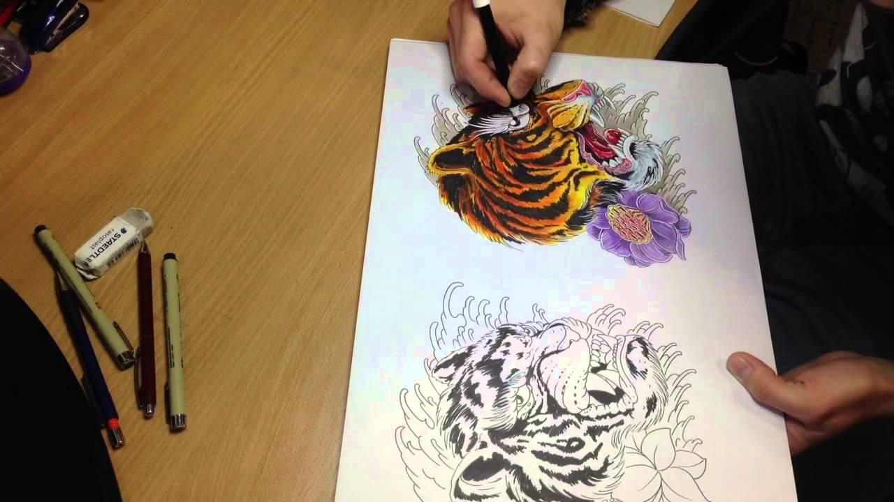 Как из сделать эскиз татуировки 7