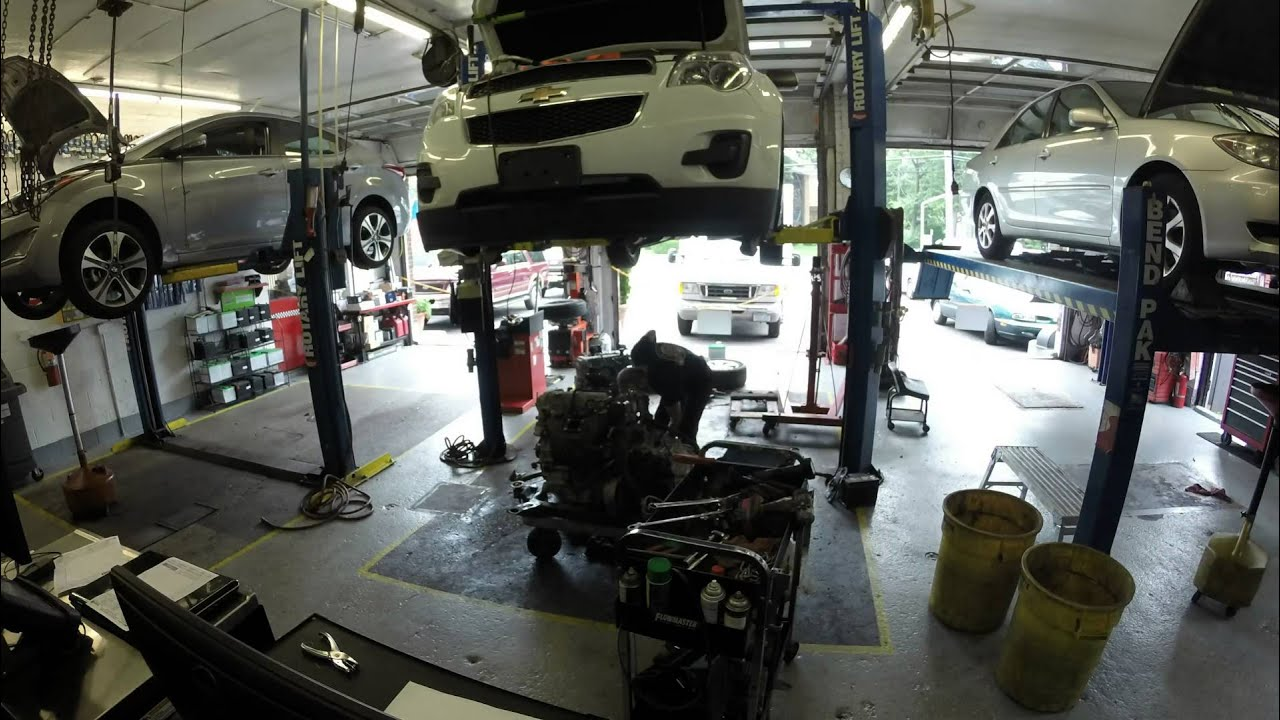 2012 Chevy equinox Timelapse engine replacement - YouTube