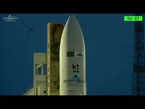 Liftoff of Arianespace's Ariane 5 with SGDC and KOREASAT-7