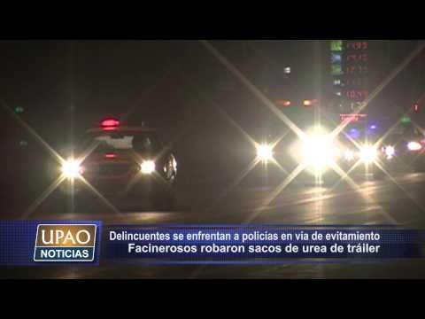 DELINCUENTES SE ENFRENTAN A POLICÍAS EN VÍA DE EVITAMIENTO