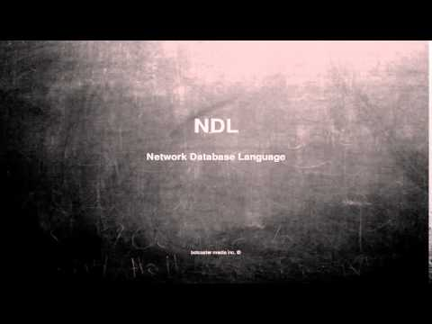 What does NDL mean