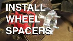How to PROPERLY Install Wheel Spacers