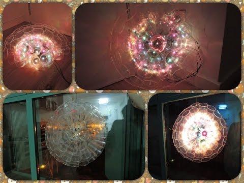 cdfdd5403b3 Manualidades. Lámpara de vasos para decorar con luces de Navidad ...