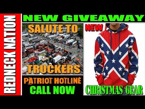 Redneck Nation Trucker Salute NEW Confederate Hoodies!