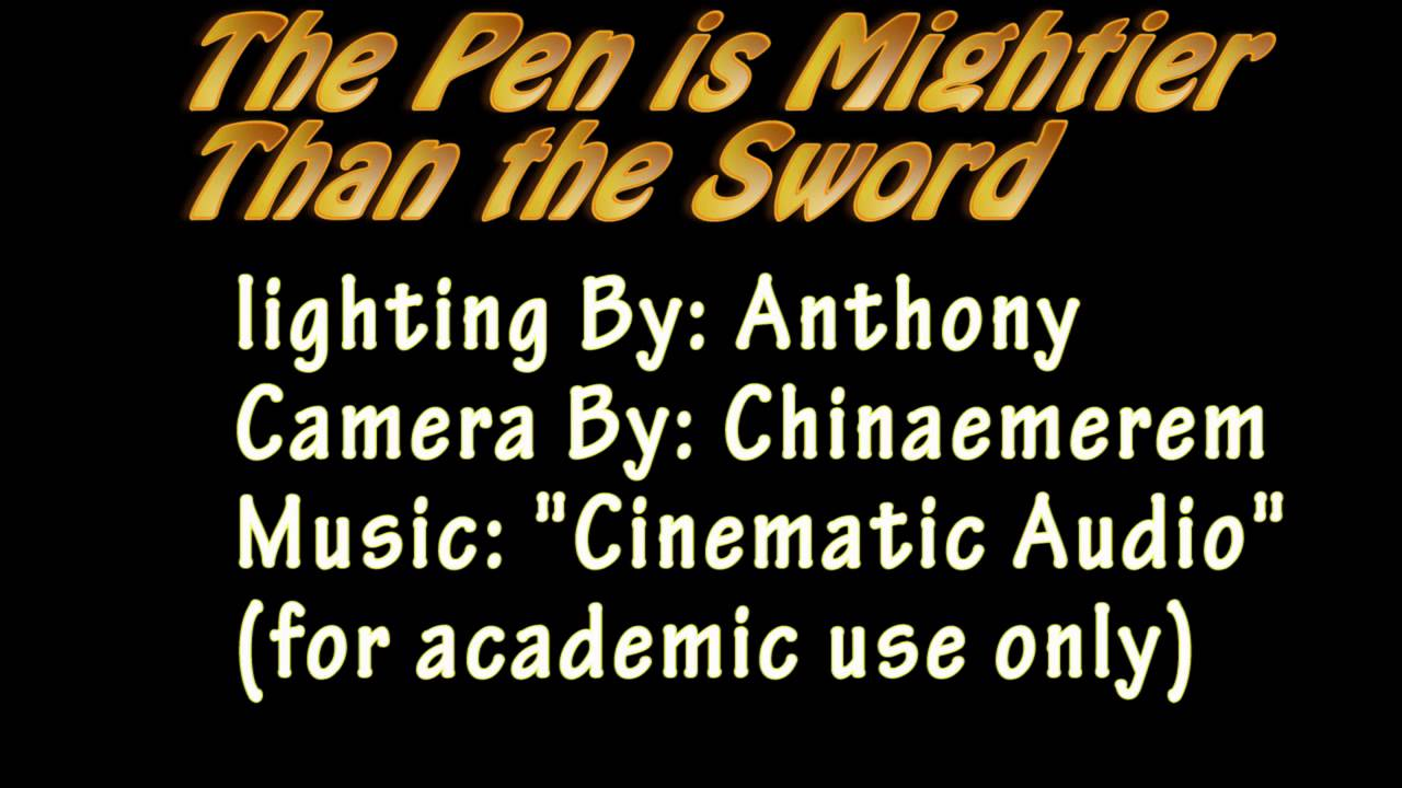 High School Essays The Pen Is Mightier Than The Sword Essay Proposal Example also Essays On English Literature The Pen Is Mightier Than The Sword  Youtube Example Of An Essay Paper