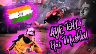   PUBG MONTAGE   Ae Dil Hai Mushkil   BEST SYNC EVER🔥🔥