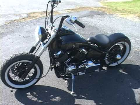 yamaha vstar 650 custom bobber youtube. Black Bedroom Furniture Sets. Home Design Ideas