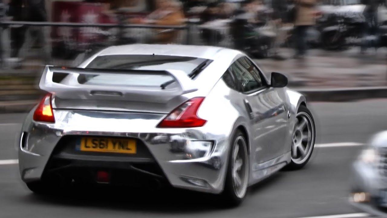 Chrome Nissan 370Z cruising the streets of London [HD ...
