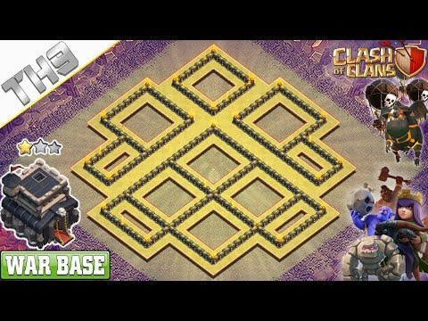NEW TH9 War Base 2019 | Anti 3/2 Star TH9 Base - Clash Of Clans