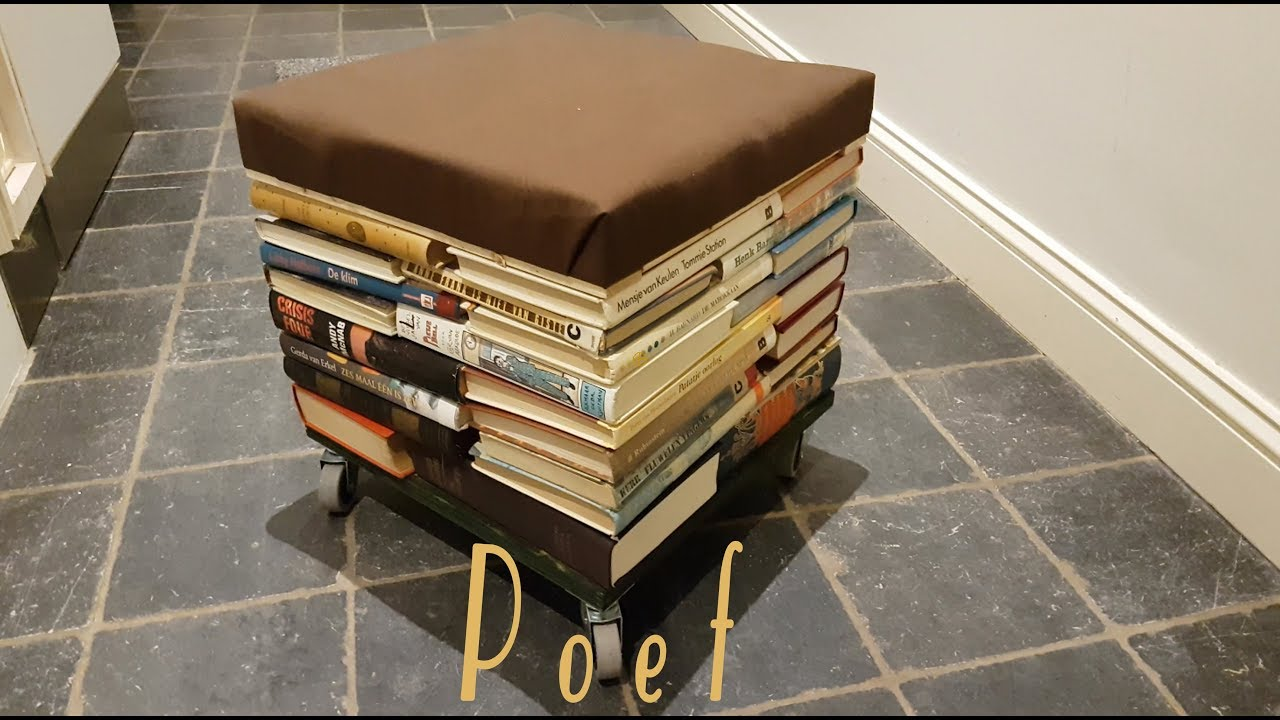 How To Make A Pouffe From Old Books Dhz Poef Maken Van Oude Boeken