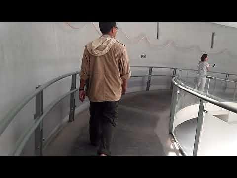 Entering Atomic Bomb Museum in Nagasaki