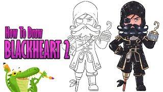 how to draw Blackheart skin level 2 fortnite season 8