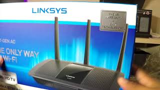 Linksys Max Stream™ AC1750 Wi Fi Router Black Unboxing Review