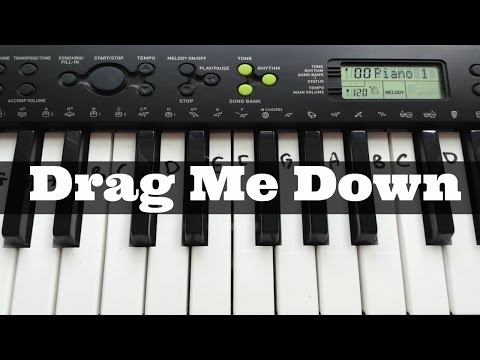 Drag Me Down - One Direction | Easy Keyboard Tutorial With Notes (Right Hand)
