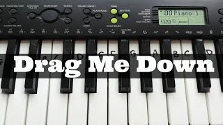 Drag Me Down - One Direction | Easy Keyboard Tutorial With Notes (Right Hand) mp3