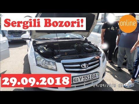 #sergelimoshinabozori Sergeli Moshina Bozori 29.09.18 (Real Video) CRUZ,LACCETI To'plami!