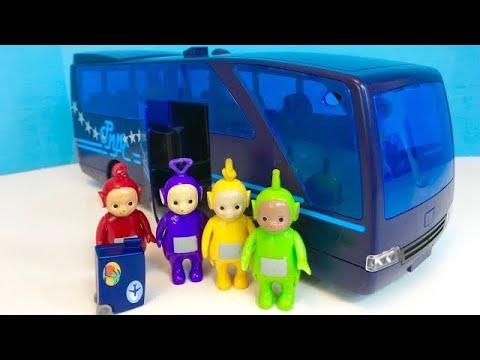 PLAYMOBIL Tour Coach Travel BUS To The CIRCUS With TELETUBBIES TOYS!