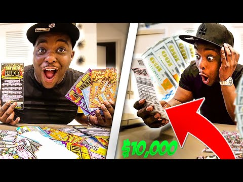 I Spent $10,000 On Lottery Tickets And Won ???