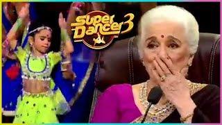 Rupsa AWESOME Performance SHOCKS Asha Parekh & Waheeda Rehman   Super Dancer Chapter 3