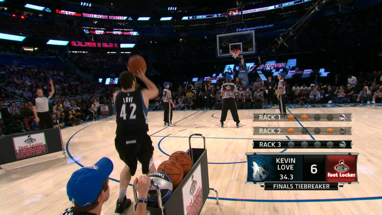 Foot Locker Three-Point Contest: Kevin Love`s Final Round - YouTube