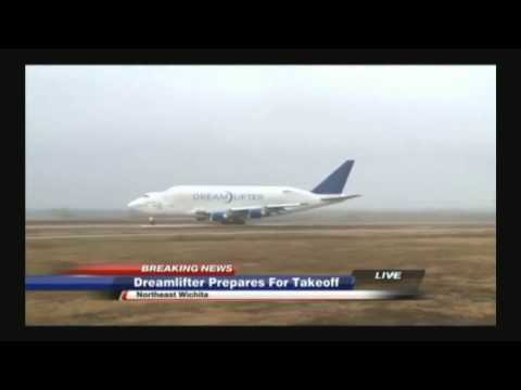 747 Dream Lifter take-off from Jabara Airport 21/11/13 W/ Audio