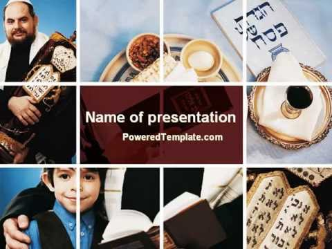 Judaism Powerpoint Template By Poweredtemplate Com Youtube