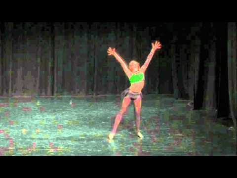 Abby Mayne Jazz solo 'Defying Gravity' 2015 Backstage Dance Academy