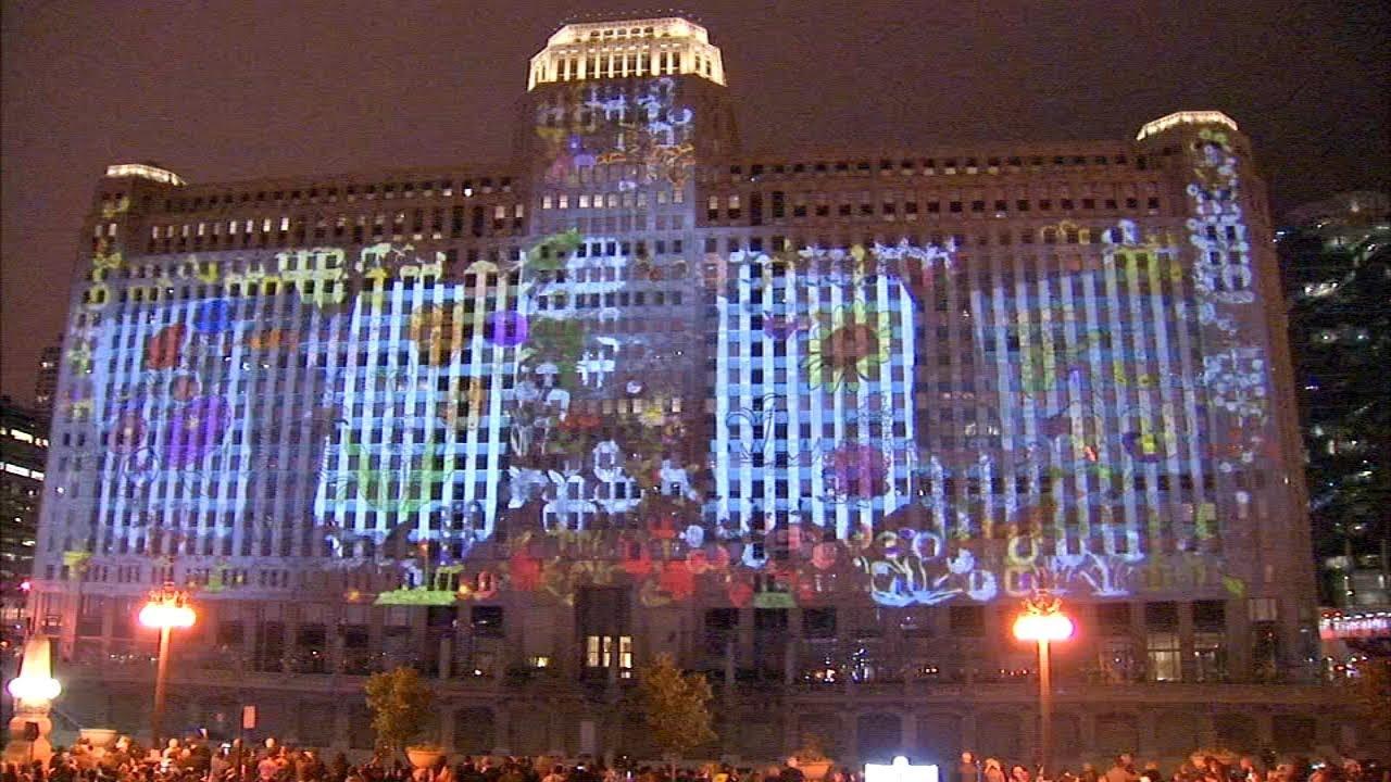 Art On The Mart Chicago Debuts World S Largest Permanent Digital Art Projection 93 9 Lite Fm Mick Lee