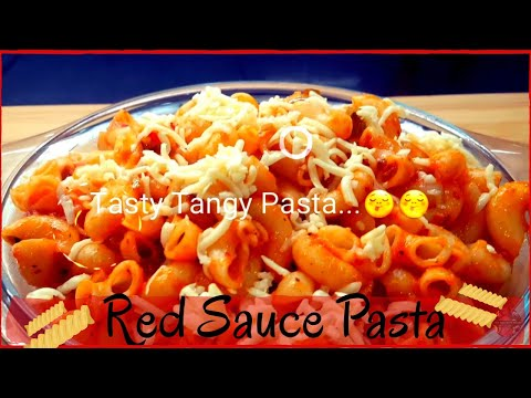 how to make Tomato Pasta at home | Red sauce Pasta | Tangy Tomato Pasta