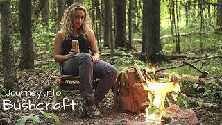 Bushcraft Chair, Stone Fire Pit, and Lunch on the Coals | A Learning Process