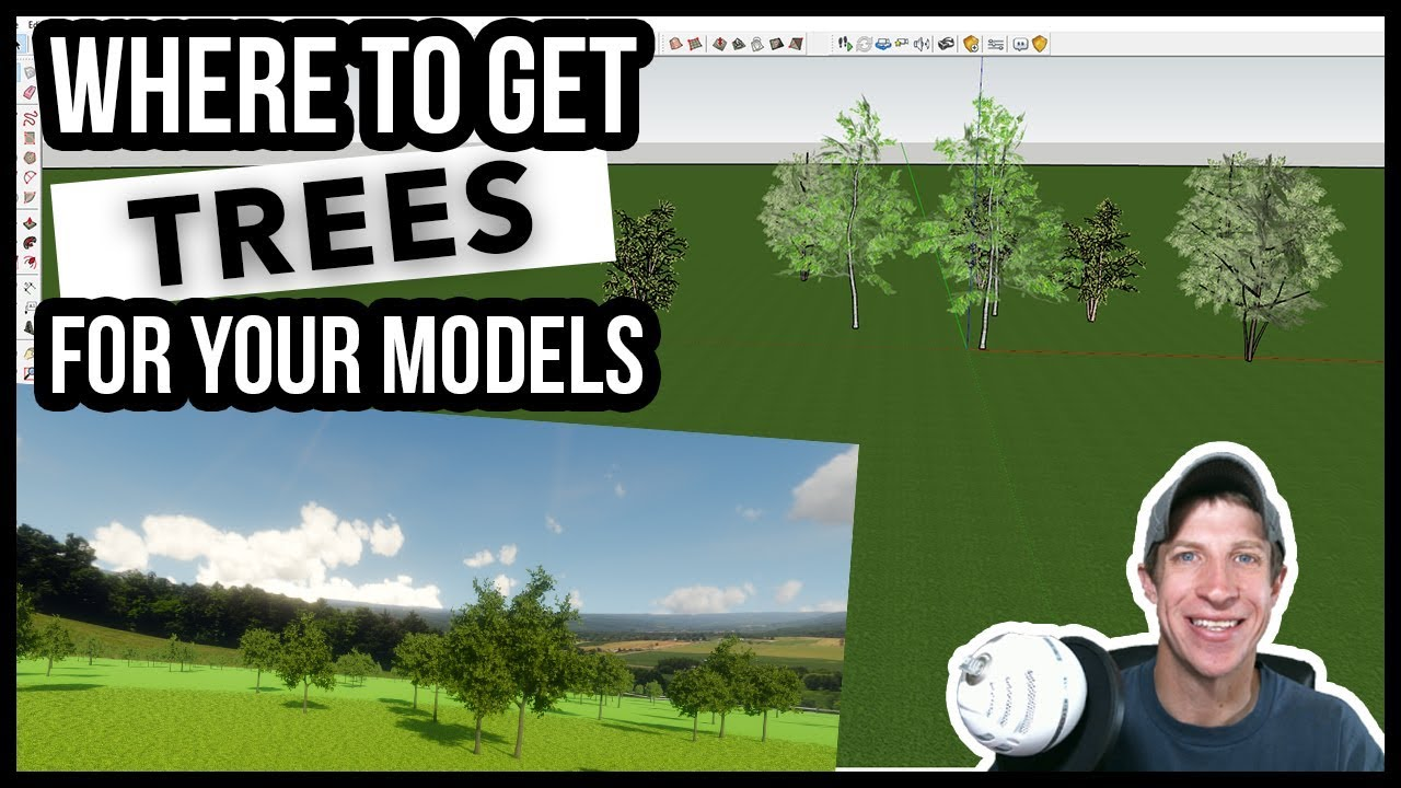 4 PLACES TO GET TREES for your SketchUp Models