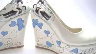 Dolgu topuk tasarim gelin ayakkabisi  -a1