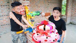 NTK Nerf Movies: Special SEAL Y Warriors Nerf Guns Fight CoCa Cola vs Mentos BIRTHDAY WAR