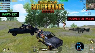 PUBG MOBILE | AMAZING M249 SQUAD WIPES AND INTENSE GAME CHICKEN DINNER