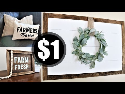 Dollar Tree Farmhouse Decor DIY [UNDER $10] 2019