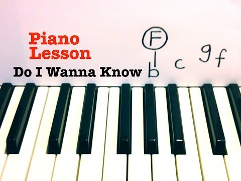 Do I Wanna Know ★ Piano Lesson ★ EASY ★ Arctic Monkeys