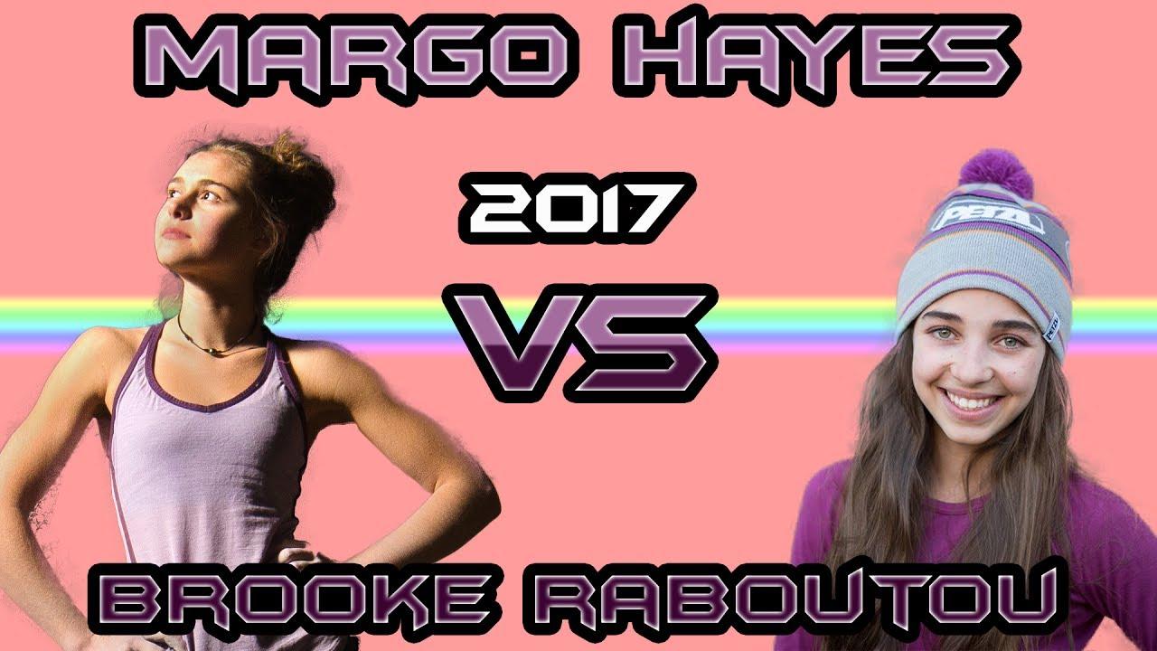 Margo Hayes VS Brooke Raboutou - Climbing Comparison 2017