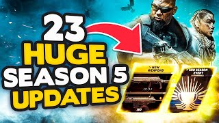 WARZONE SEASON 5: All 23 MAJOR Updates & Changes! NEW WEAPONS, MAP LOCATIONS & MORE (Modern Warfare)