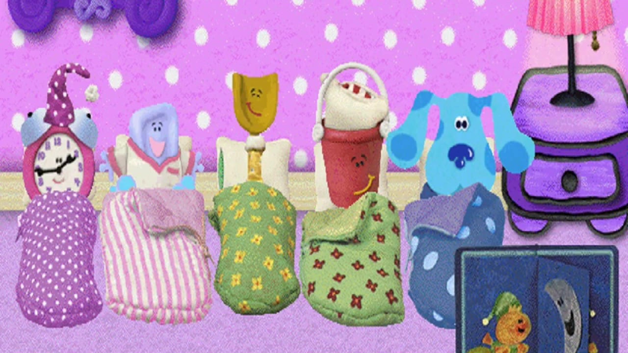 Blues Clues 319 Blues Pajama Party Windows Game 1999 Youtube