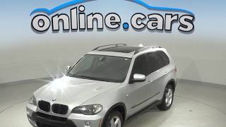 R97042NC Used 2009 BMW X5 SUV Silver Test Drive, Review, For Sale