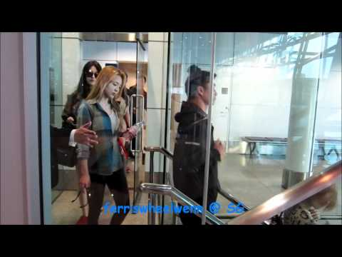 24/03/12 - SNSD arrival @ KLIA - Leaving through private exit?